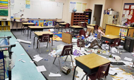 Man, child break into elementary school