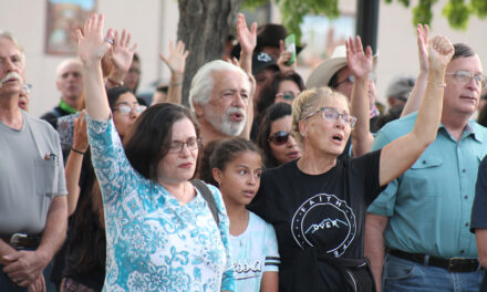 Area church leaders, members gather in solidarity, protesting fear of pandemic