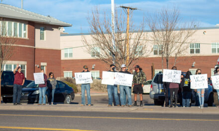 Student-athletes protest in Belen