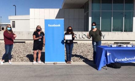 Facebook gives school district grants