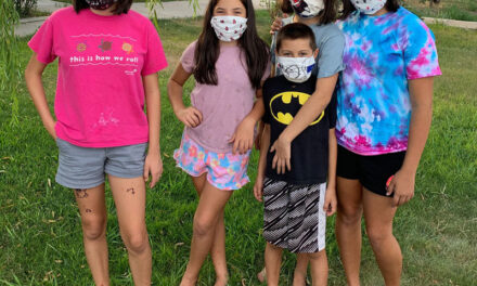 Children's mask-making activity big hit with families