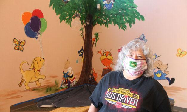 Artist, bus driver creates mural for students at La Promesa Elementary