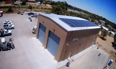 Los Lunas installs solar array at its maintenance building