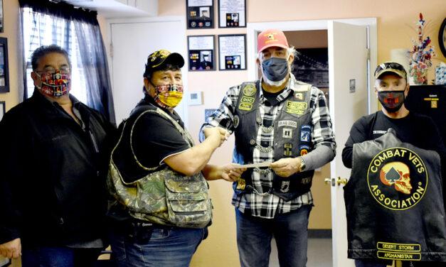 Combat Veterans Motorcycle Association makes donation
