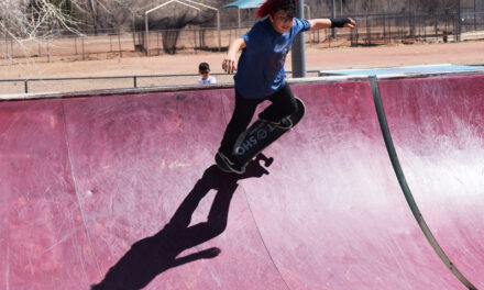 SOARING SKATEBOARDERS: Local skaters come together to inspire and teach area youth