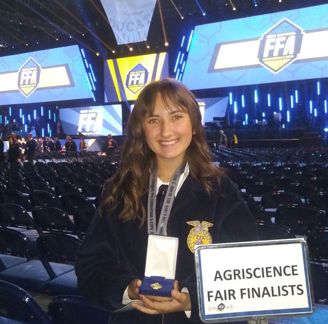 Gianna Nilvo places first at National FFA Agriscience Fair