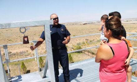 Showcasing Los Lunas Fire Department's new equipment