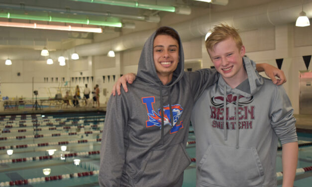 Competitive Swimming Brothers