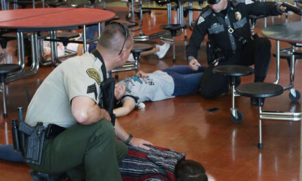 ACTIVE-SHOOTER TRAINING: Students, staff and first responders practice at Valencia High School