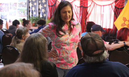 Haaland comes to Meadow Lake; talks about gun violence