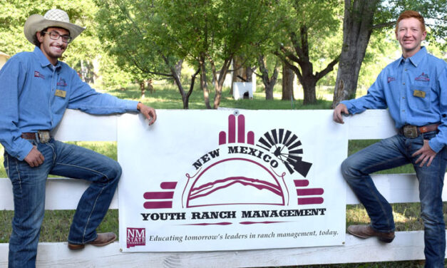Two youth learn about ranch management at NMSU camp
