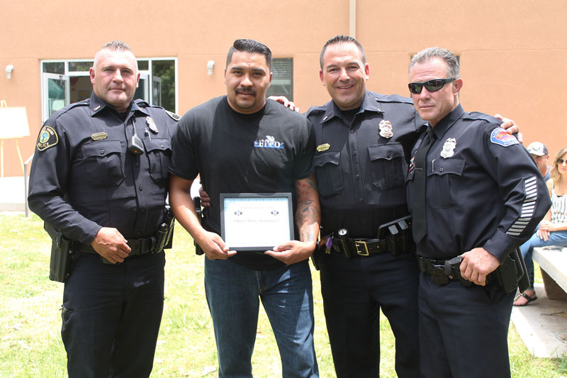 Ricky Dominguez named BFPD Officer of the Year
