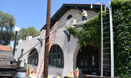 Belen Harvey House Museum's ceiling leaking, portico roof replaced, Summer Picnic set