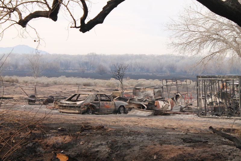 Firefighters still working Belen fire; cause under investigation