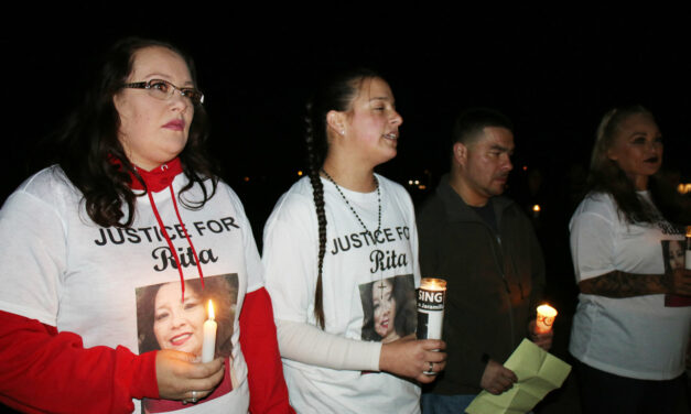 Candlelight vigil held for woman missing since September